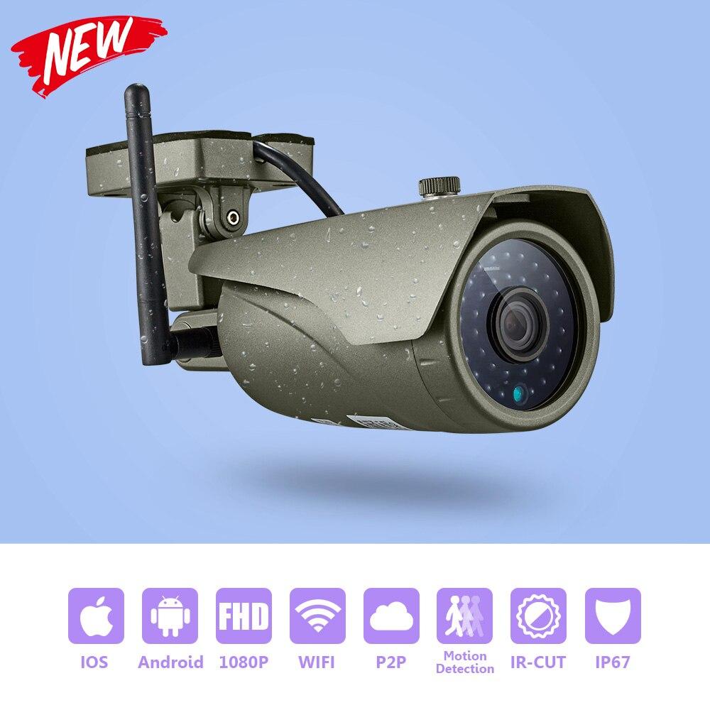 KERUI Volle HD 1080P WIFI Wasserdichte Gewehrkugel Ip-kamera P2P Echt-zeit Vision Home Security Wireless Outdoor Surveillance kamera