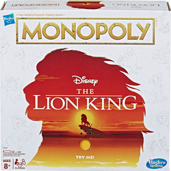 Hasbro Monopoly Game The Lion King Edition Family Board Game Games and Puzzles Monopoly Strategy Games toys