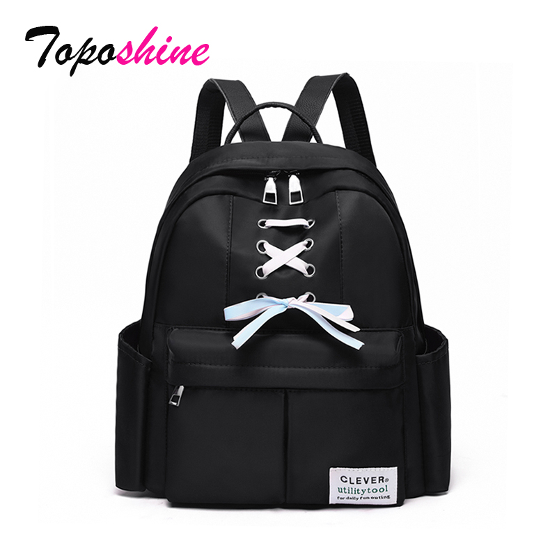 Girls Backpacks Bags Oxford Black-Color School Women Fashion Ladies New