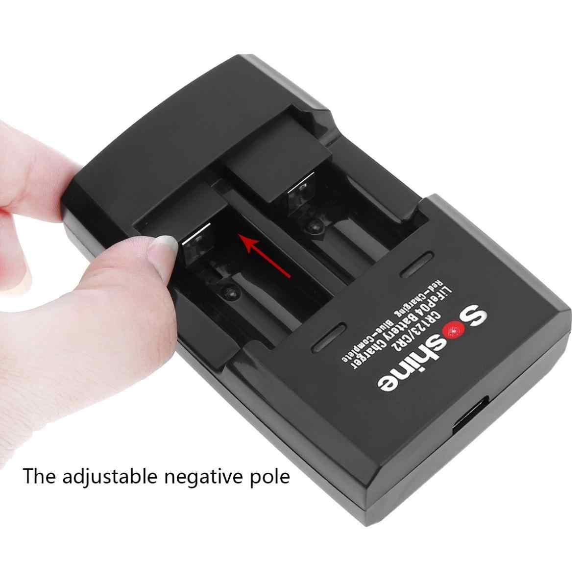Soshine Smart Cepat Baterai Charger untuk LiFePO4 Li-FePO4 RCR123 RCR2 CR2 16340 17335 16340P Cepat Baterai Charger