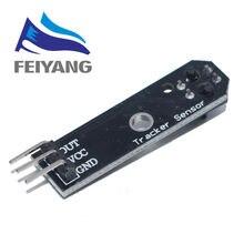 Linha infravermelha ir seguidor pista sensor tcrt5000 obstáculo evitanc para arduino 1 canal rastreamento módulo avr braço pic dc 5 v