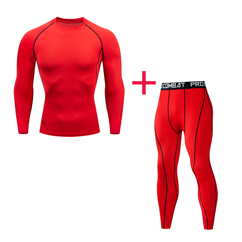 Batman Compression Thermal Underwear Men's Sports Suit Track And Field Sportswear 3-piece Tight Running Shirt MMA4XL