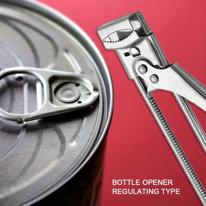 Stainless Steel Adjustable Jar Lid Opener Can Bottle Gripper Manual Gripper Can Opener Kitchen Gadget Professional