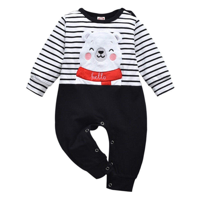 Infant Kids Baby Boys Casual Long Sleeve Cartoon Romper Jumpsuit Outfits Clothes
