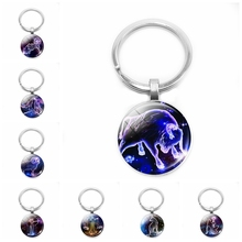 2019 New 12 Constellation Keychain Zodiac Pendant Jewelry White Sheep Lion Taurus Special Design Gift