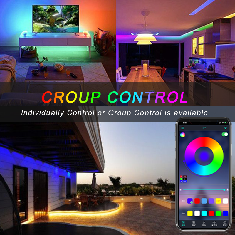cheapest LED Strip RGB LED Light Tape SMD 5050 DC5V Waterproof  USB Powered backlight with Bluetooth remote Sync Music TV Light Tape