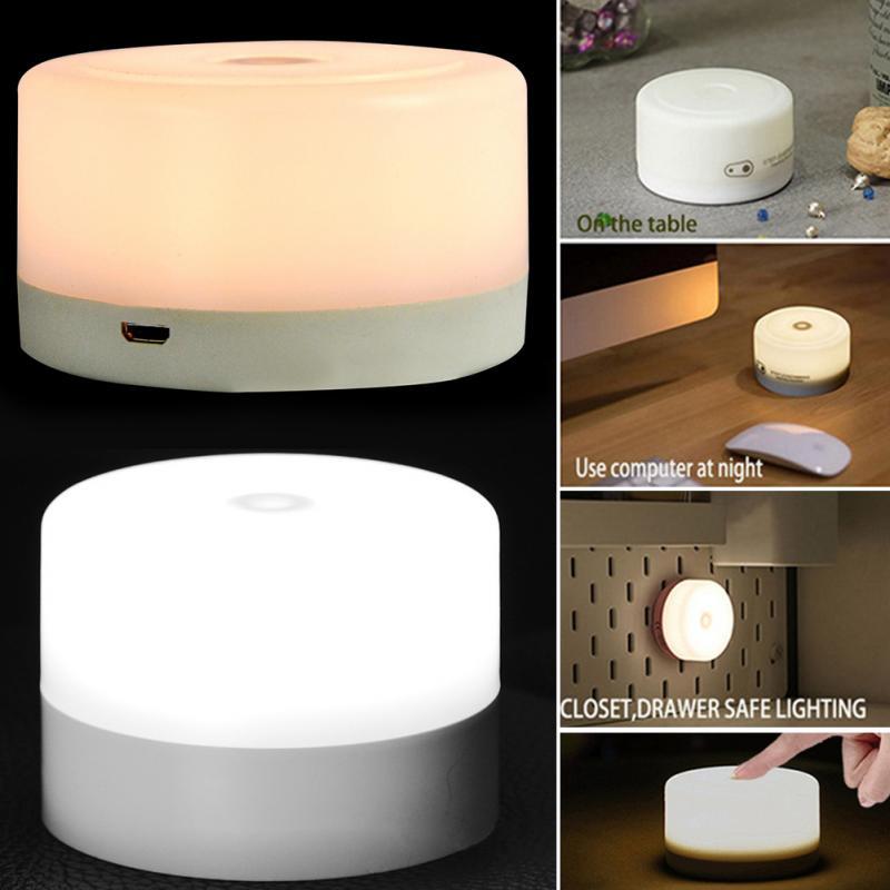 Mini luz de noche Led portátil USB Lámpara de carga inalámbrica bebé guardería niños mesita de noche táctil lámpara recargable de lactancia materna