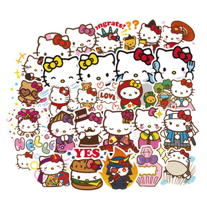 100 Pcs Hello Kitty TOMY Cartoon Stickers For Skateboard Motorcycle Luggage Sticker Laptop Guitar Notebook Stickers