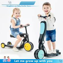 Children Three wheel Balance Bike Scooter 5 In 1 Multi-function Tricycle Ride Car Toy Walker for children 1 to 8 years old(China)