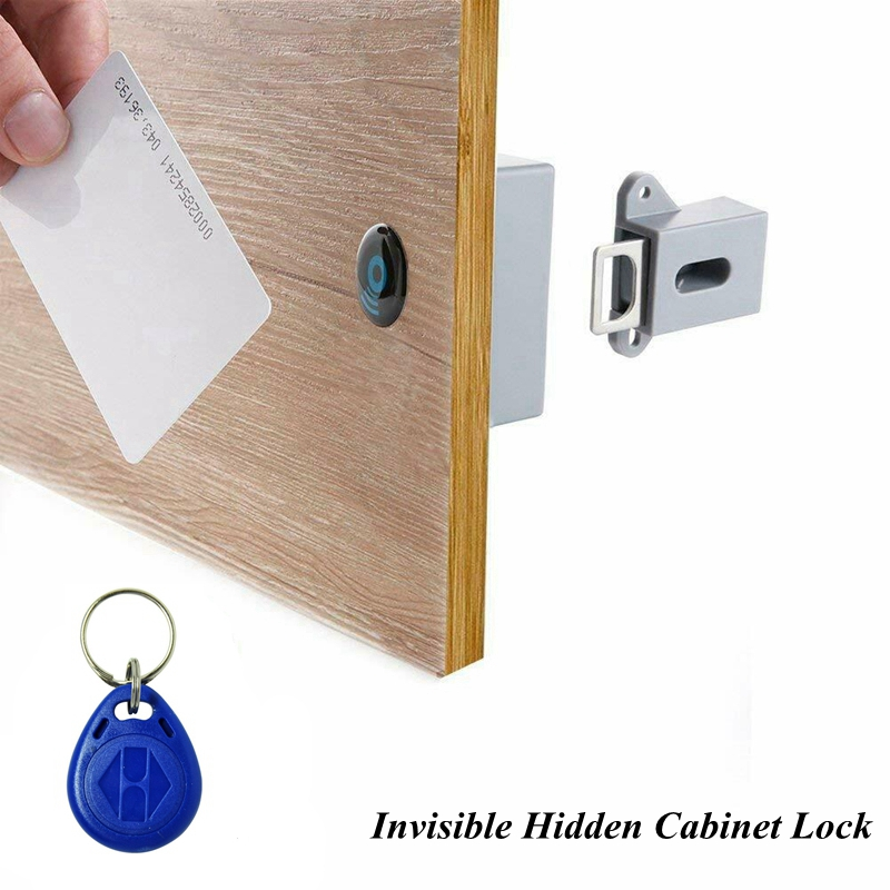 RFID Electronic Cabinet Lock Invisible Hidden Free Opening Intelligent Sensor Smart Lock Locker Wardrobe Drawer Wooden Lock