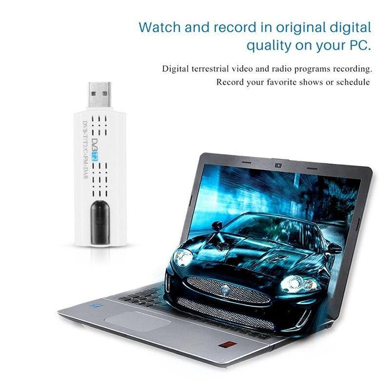 USB 2,0 цифровой DVB-T/T2 SDR + DAB + FM HD ТВ тюнер приемник палка