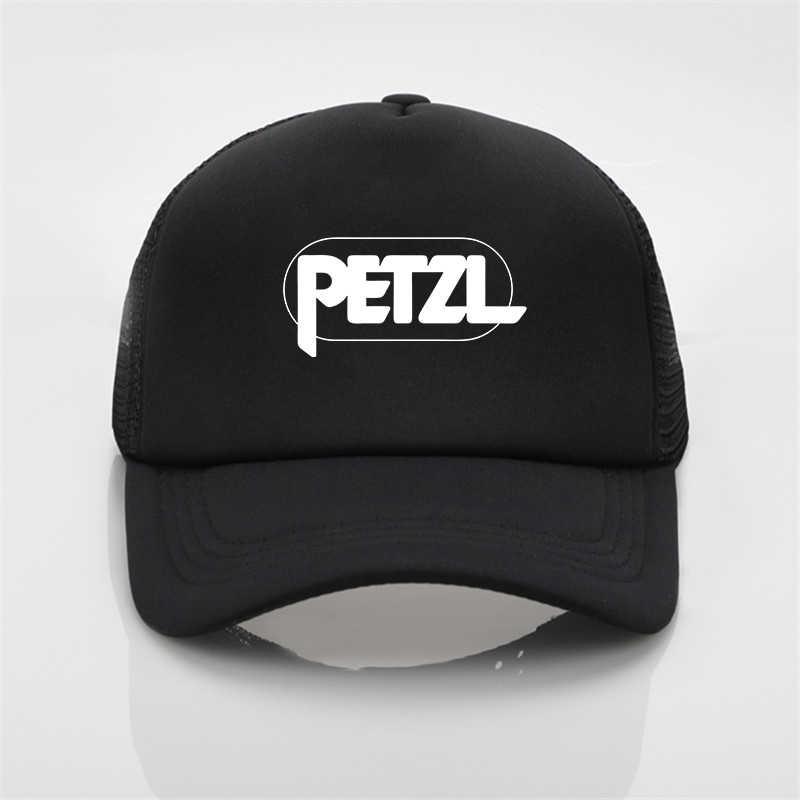 2020 moda czapka z siatką Petzl Rock czapka baseballowa z nadrukiem mężczyźni/kobiety i kobiety lato Trend cap nowa młodzież kapelusz słońce plaża czapka z daszkiem