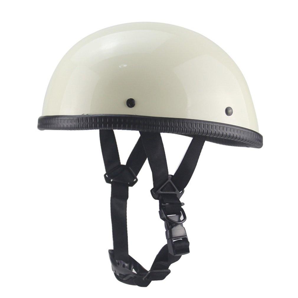 Мотоциклетный немецкий полулицевой шлем Чоппер круизер Байкер скутер полушлем череп шапка Чоппер поплавок байкер