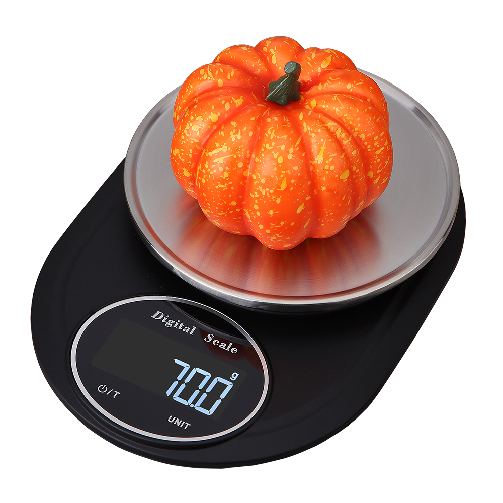 Household Stainless Steel Kitchen Scale 5Kg/0.1g LCD Digital Measuring Scale Precision Electronic Food Weighing Scale Tool 2019