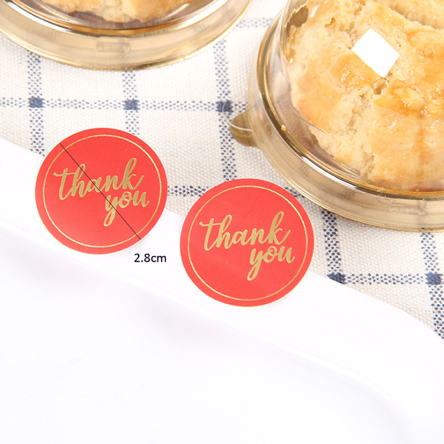 Foil Gold Gift Stickers 10