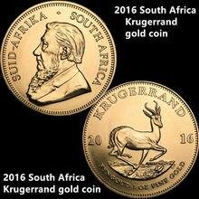 Бесплатная доставка, 3 шт./лот, 2016 ЮАР Золотая монета кругерранда, высокое качество, Реплика