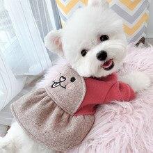Robes d'hiver pour animaux de compagnie, vêtements chauds pour petits et moyens chiens, Costume oreilles de lapin, pour chiots et chats