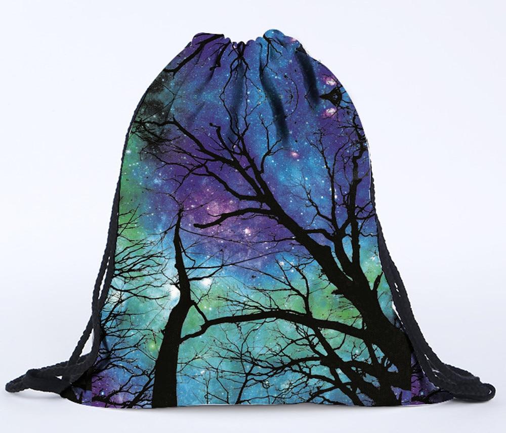 Storage Shopping Package Drawstring Bags Unisex Backpacks 3D Printing Bags Drawstring School Gym Backpack Softback Printing