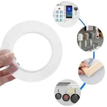 Universal NanoTape Double Sided Tape Transparent Traceless tape Reusable Waterproof Adhesive pipe tap Cleanable Home gekkotap