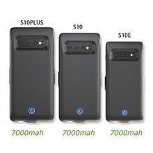 Capa do carregador de bateria para samsung galaxy s10 s10e capa 7000mah bateria sobressalente para samsung galaxy s10 plus capa da bateria