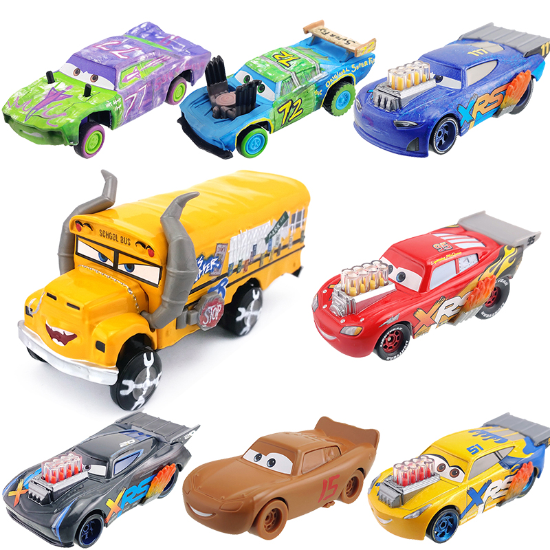 Disney Pixar Cars 2 3 Lightning McQueen Jackson Storm 1:55 Metal Vehical Model Car Toys For Children