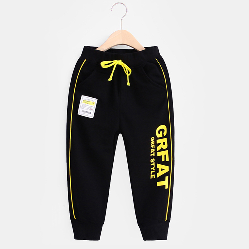 New Kids Boys Girls Pants Sports For 3-10 Yeas Fashion Print Letter Casual Sport Cotton Children Trousers Running Autumn Winter 6