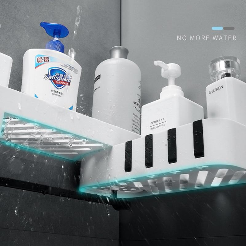 ONEUP Corner Shower Shelf Bathroom Shampoo Shower Shelf Holder Kitchen Storage Rack Organizer Wall Mounted Bathroom Accessories 3