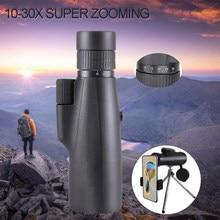 10-30 × 50 poderoso monocular bka4/fcm bolso de longo alcance spotting zoom telescópio óculos para caça acampamento turismo