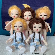 New Sleeping Boy Doll 16 Cm BJD Doll Blue Purple Brown Eyes Naked Baby DIY Doll Give Shoes Girl Fashion Doll Children Toy Gift