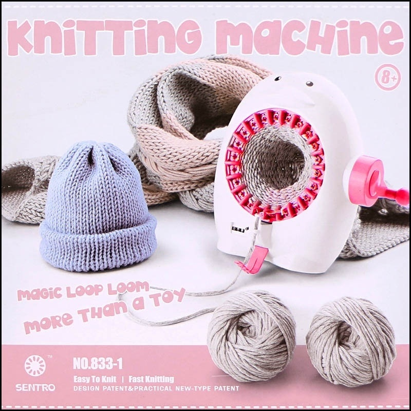 Diy Woven Scarf Machine Cartoon Penguin Plastic Needle Sewing Tools DIY Hand Knitting Loom For Scarf Hat Children Pretend Toys