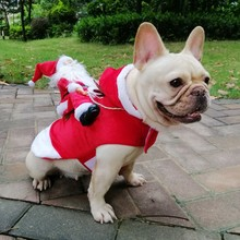 Decorative Pet Dog Clothes for Christmas Funny Costumes Warm Jacket Bulldog Winter Dogs Supplies