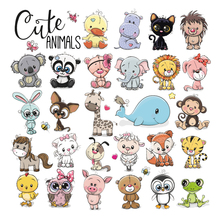 Cute Animals Stickers Patch Baby Diy T-Shirt Eco-Friendly Clothing Stickers Washable Stripe Patch For Clothing Cute Lion Tiger