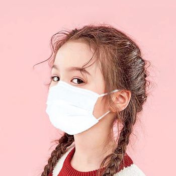 50pcs Disposable Mouth Masks For Kids Non-woven Air Filter Fabric Dust-proof Anti-fog For Outdoor Party Protective Mask