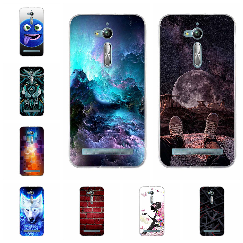 For Asus Zenfone Go ZB500KL ZB500KG Case Soft TPU Cover Cute Pattern Bag