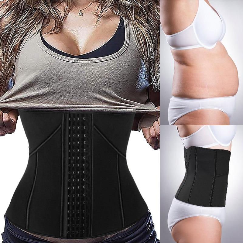 US Women Waist Trainer Corset For Weight Loss Neoprene Shaper With Zipper Belt