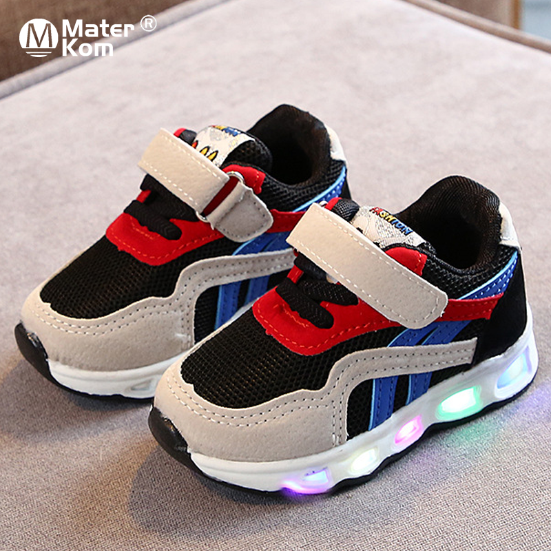 Size 21-30 Children's Led Shoes Boys Girls Lighted Sneakers Glowing Shoes For Kid Sneakers Boys Baby Sneakers With Luminous Sole
