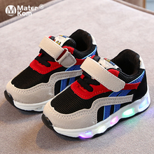 Size 21-30 Children's Led Shoes Boys Girls Lighted Sneakers
