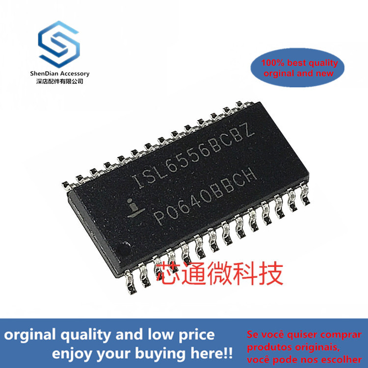 10pcs 100% Orginal New ISL6556BCBZ SOP-28 Optimized Multi-Phase PWM Controller With 6-Bit DAC (can Work Perfect)