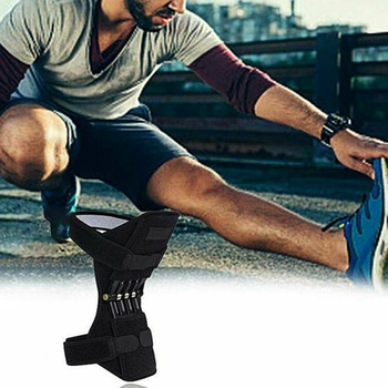Joint Support Knee Pads Breathable Non-Slip Power Lift Joint Knee Pads Powerful Rebound Spring Force Knee Booster Leg Protector