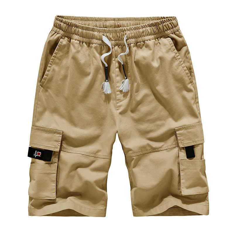 2020 Men's Cargo Shorts Combat Plus Big Size Capris 8XL 5XL 6XL 7XL Man Long Army Green Baggy Short Male Army Green Dark Green
