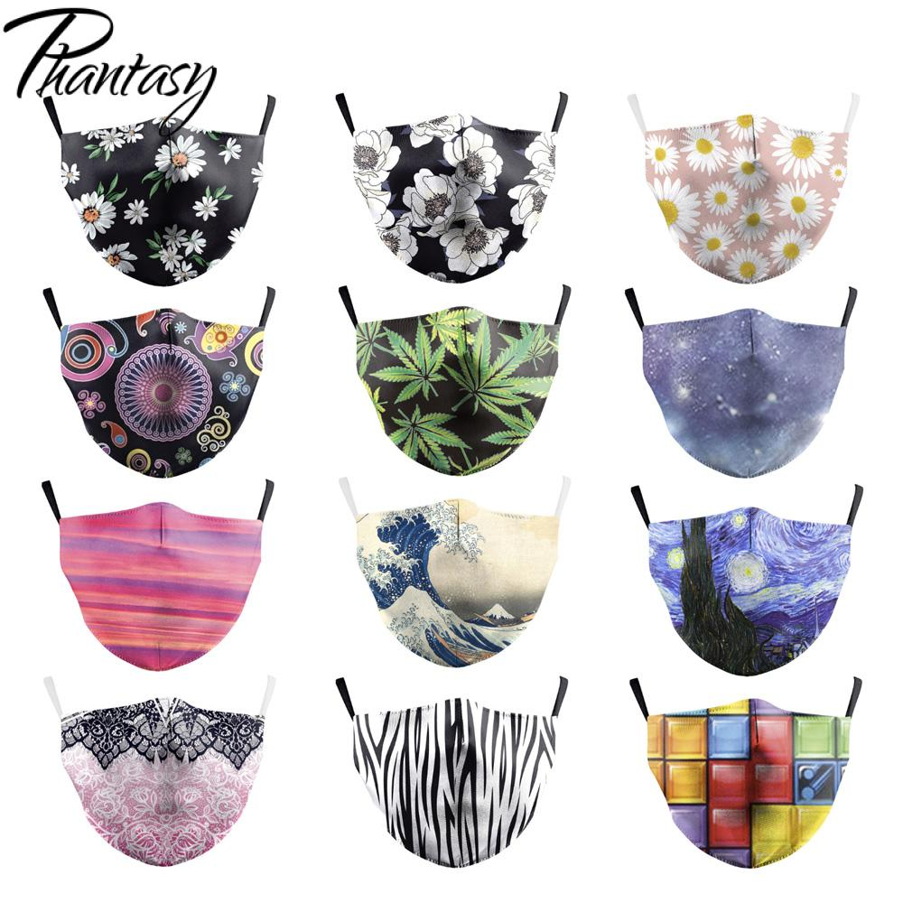 Phantay Multicolor Face Mask Anti-Dust Face Mouth PM2.5 Mandala Flower Print Breathable Washable Reusable Protective Face Mask