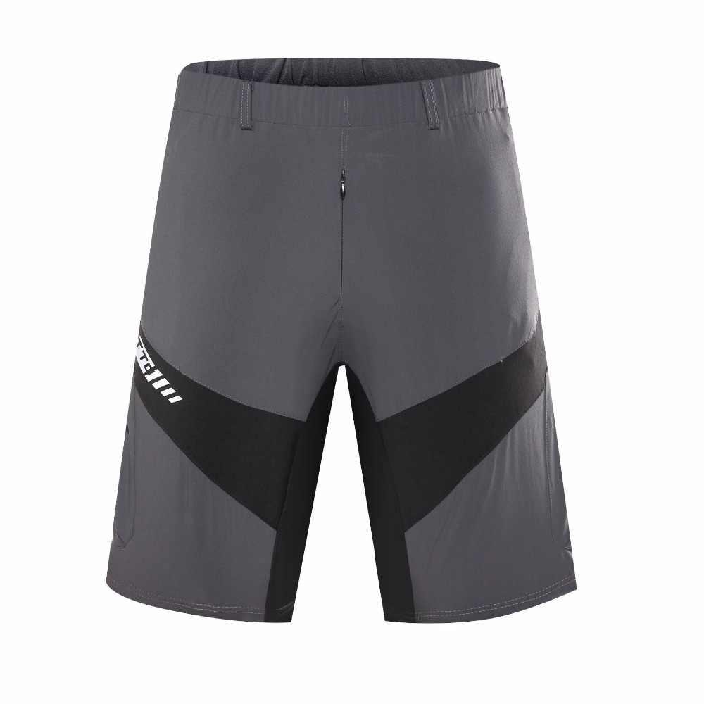 Para hombre al aire libre deportes pantalones cortos de Ciclismo Mtb cuesta abajo protección MTB pantalones cortos de bicicleta de montaña de Ciclismo cortos