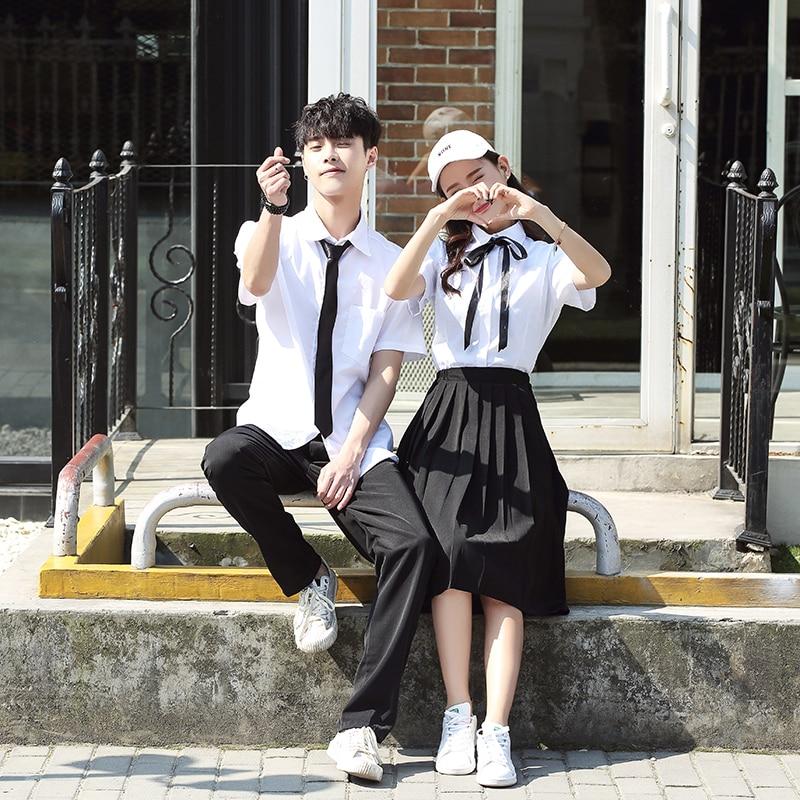 JK School Uniform Set Student Uniform Tie Sailor Suit Set Costume Japanese School Uniform Girl For Summer And Autumn