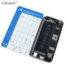 FIXFANS 磁気ネジマットメモリチャート携帯電話修理作業パッド iphone アプリのタブレットノートパソコンの修理ツール 145 × 90 ミリメートル