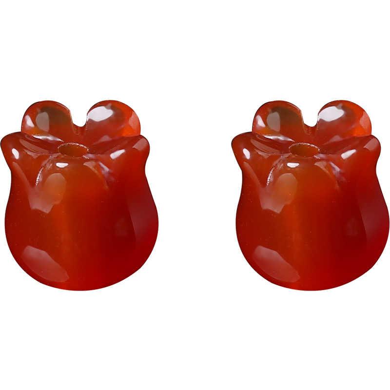 3D סחלב צורת פרח חרוזים 1 Pc 10*9mm טבעי J ade חבית חרוזים לdiy תכשיטי ביצוע שרשרת צמיד אביזרי 18174