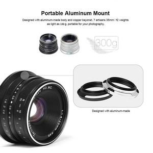 Image 2 - 7 rzemieślników 25mm F1.8 ręczne ustawianie ostrości obiektyw do sony E A5000 A5100 A6300 A6500 dla Canon EOS M dla fuji fx dla Olympus M4/3