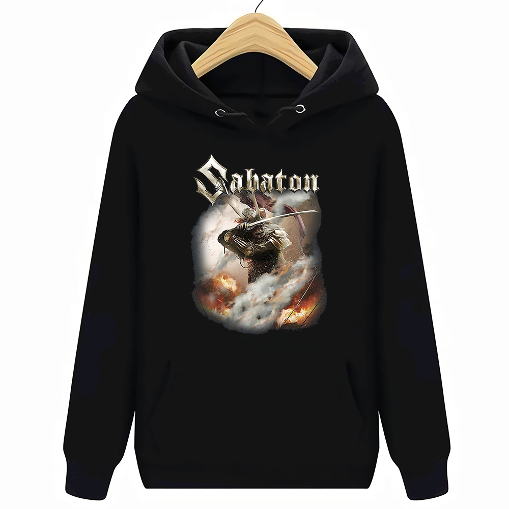 Black Shiroyama Sabaton Hoodies Sweatshirts Vintage Size S 2Xl
