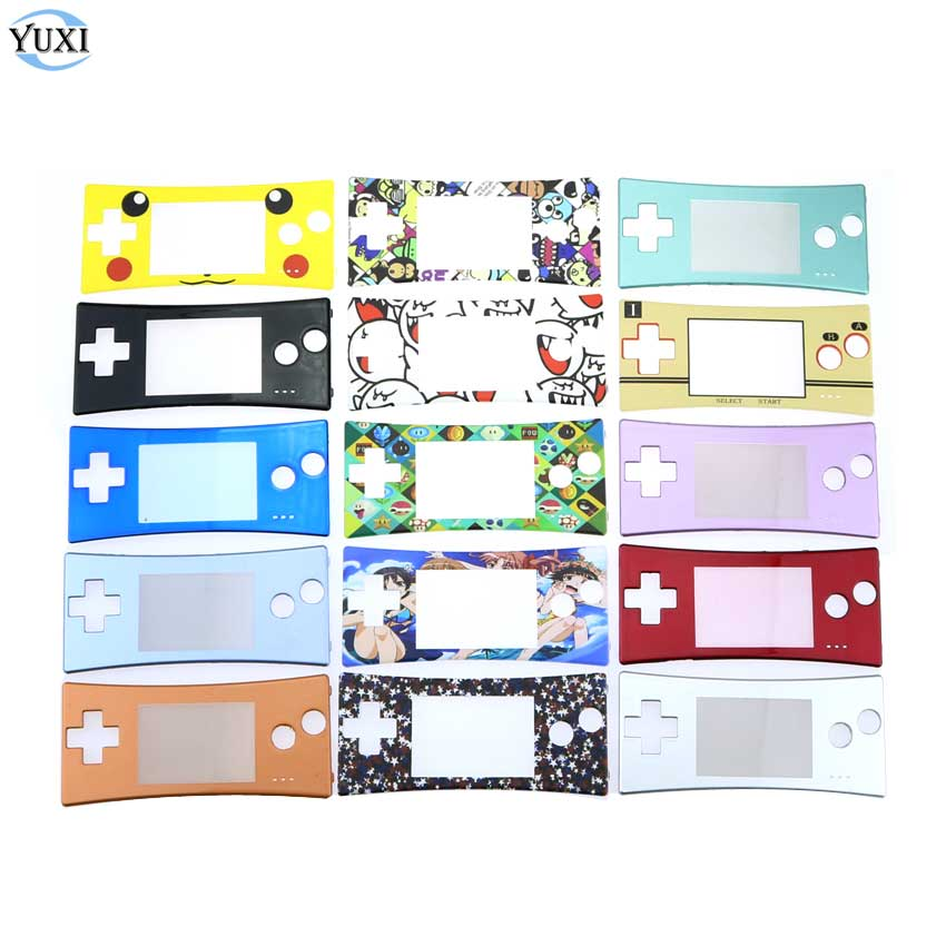 YuXi Replacement Front Faceplate Cover for GameBoy Micro for <font><b>GBM</b></font> System Front <font><b>Case</b></font> Shell Housing image