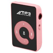 Mini Mirror Clip USB Digital Mp3 Music Player Support 8GB SD