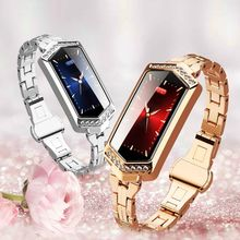 Womens Fashion Watch Smart Bracelet Full Color Screen Female Monitoring Heart Rate Blood Pressure